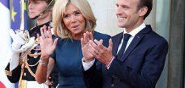 همسر رئیس جمهور فرانسه در جشن و شادمانی بازیکنان تیم ملی این کشور+تصاویر