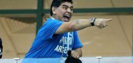 واکنش عجیب دیگو مارادونا پس از گل دی ماریا به فرانسه +عکس