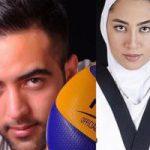 ازدواج کیمیا علیزاده و حامد معدنچی والیبالیست تیم ملی +تصاویر