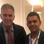 حضور کارلوس کیروش در لندن به خاطر کنفرانس فوتبالی فیفا +تصاویر