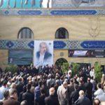 حضور چهره های معروف در مراسم تشییع پیکر بهرام شفیع مجری ورزشی +تصاویر