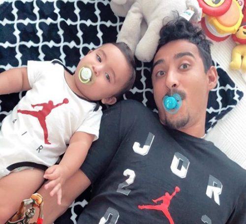 عکس های رضا قوچان نژاد به همراه همسرش سروین بیات و پسرشان