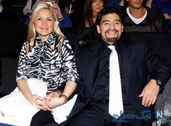 مارادونا و همسرش