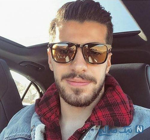 سعید عزت اللهی لژیونر مطرح فوتبال ایران در آرایشگاه +تصاویر