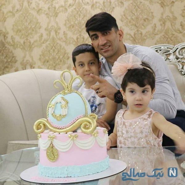 جشن تولد دوباره بارانا دختر علیرضا بیرانوند در کنار پدرش +تصاویر