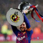 کاپیتان مسی و پسرانش در جشن قهرمانی بارسلونا +تصاویر