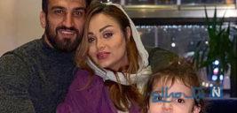 جشن خانواده حسین ماهینی در ورزشگاه برای برد پرسپولیس +تصاویر