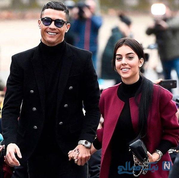 کریس رونالدو و همسرش