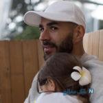 کریم بنزما ستاره رئال به قولی که به دخترش داده بود عمل کرد +تصاویر
