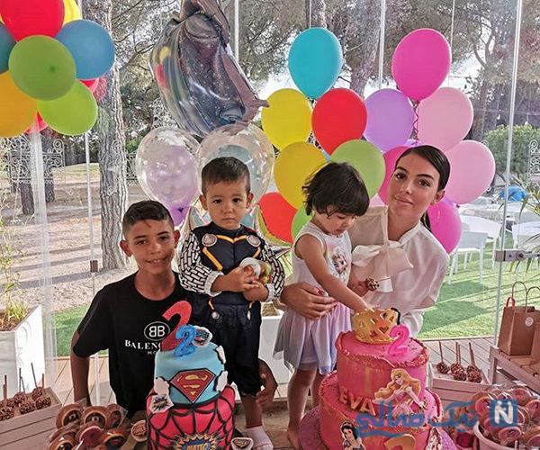 هدیه خاص همسر موراتا برای جشن تولد دوقلوهای کریس رونالدو +تصاویر