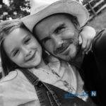 عکس های هارپر دختر دیوید بکهام و تبریک تولد عاشقانه پدرش به او