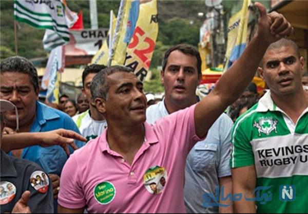 نامزدی روماریو برزیلی با زنی ۳۱ سال از خودش کوچک تر +تصاویر