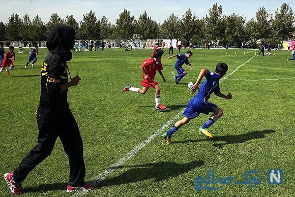 قضاوت زنان در فوتبال پسران و حاشیه های آن تا واکنش جالب فرهاد مجیدی +تصاویر