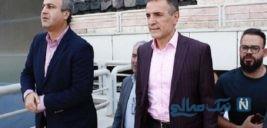 مدیرعامل سرخ پوشان در مراسم مرگ کودک در ورزشگاه ازادی + عکس