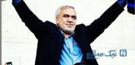 علی فتح الله زاده در پیاده روی اربعین به همراه پسرش +عکس