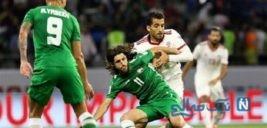 تماشای بازی ایران و عراق در میدان التحریر از مانیتور بزرگ نصب شده