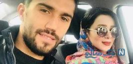 دروازبان استقلال سیدحسین حسینی و همسرش در یک روز برفی