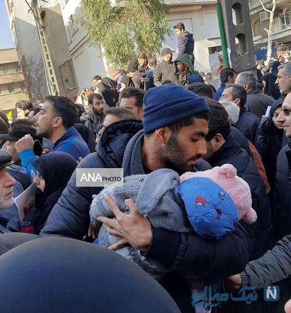 محمد انصاری و فرزندش