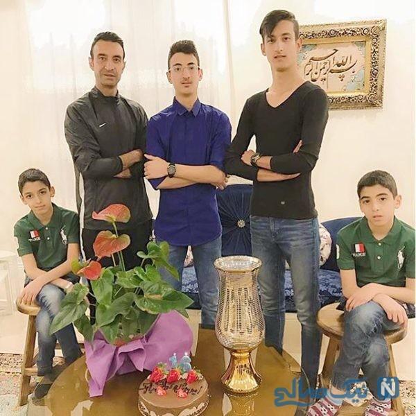 رضا عنایتی و پسرانش