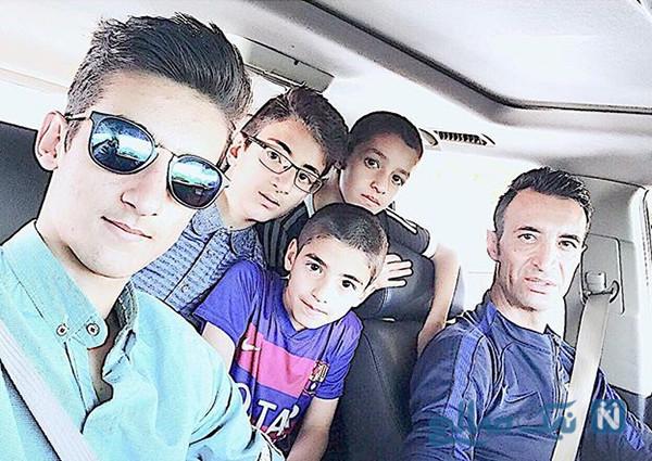 رضا عنایتی و پسرانش در یک قاب به مناسبت تولد پسرش امید