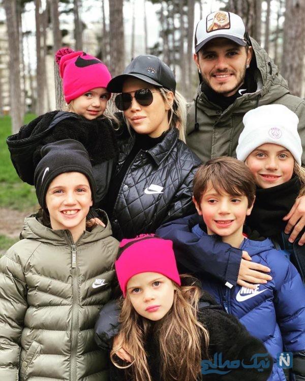 مائورو ایکاردی و خانواده اش