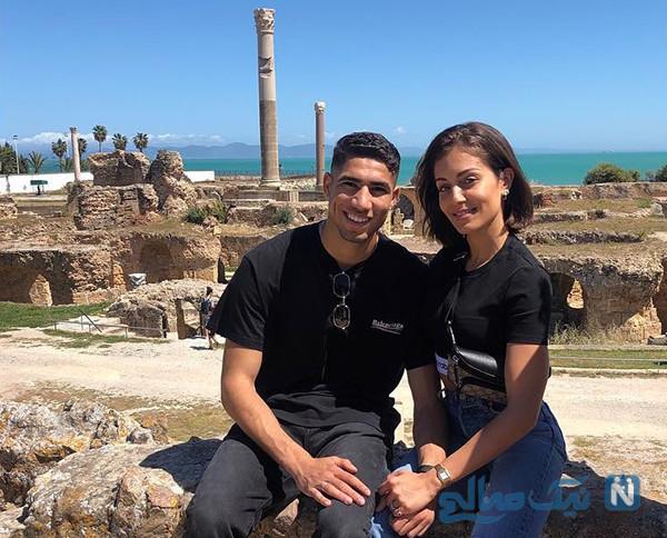 اشرف حکیمی و همسرش