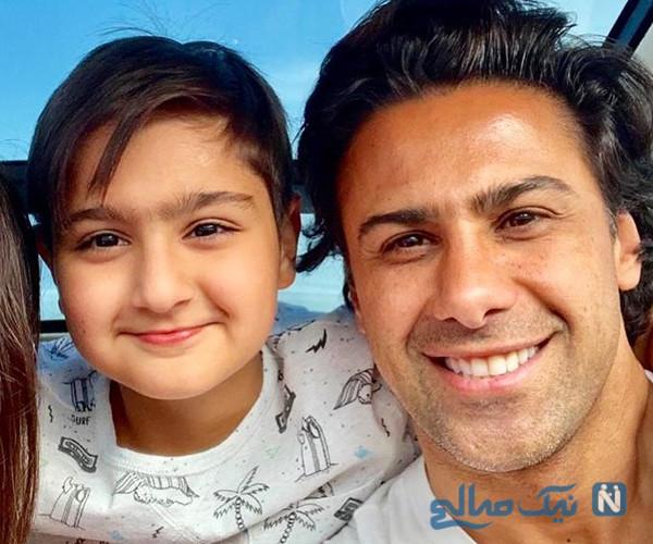 تمرین فرهاد مجیدی و پسرش امیربردیا در قرنطینه خانگی در امارات