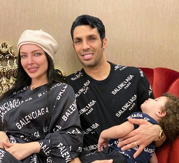سپهر حیدری و همسرش آرام