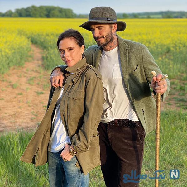 دیوید بکهام و همسرش