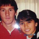 ظاهر جدید لیونل مسی ستاره آرژانتینی در تمرین بارسلونا