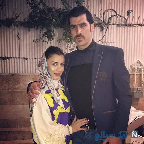 شهرام محمودی با همسر