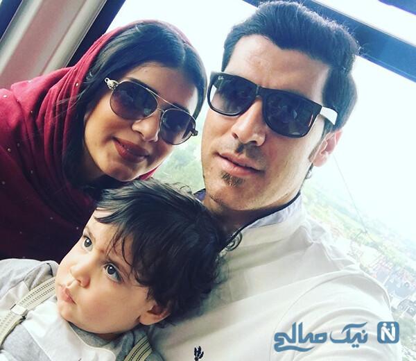 شهرام محمودی با همسر و پسرش آرسام را ببینید