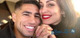 ازدواج اشرف حکیمی ستاره گرانقیمت اینتر با بازیگر اسپانیایی