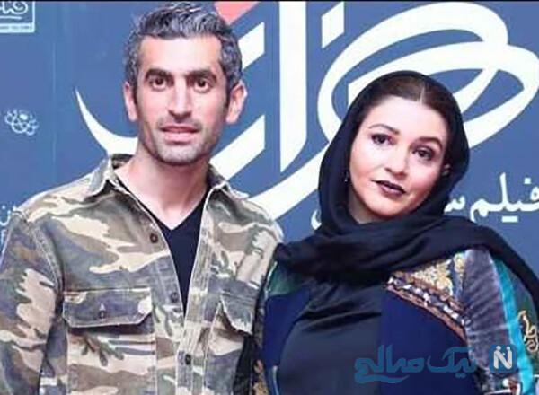 مجتبی جباری و همسرش با عاشقانه های هافبک سابق آبی ها