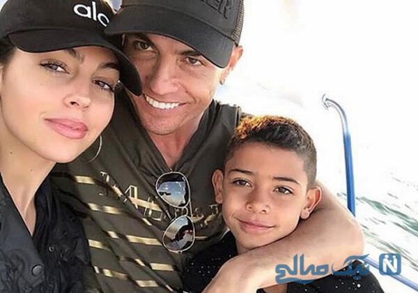 روزهای شاد کریستیانو رونالدو و جورجینا در قایق تفریحی