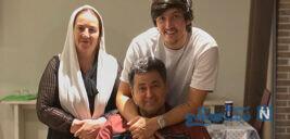 جشن قهرمانی سردار آزمون در کنار پدر و مادرش