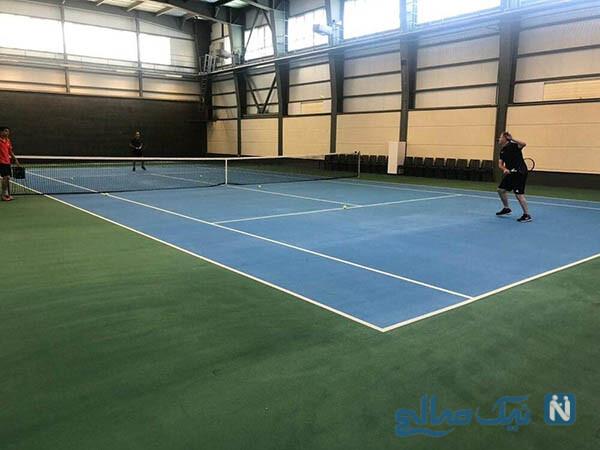تنیس اسکوجیج و علی کریمی