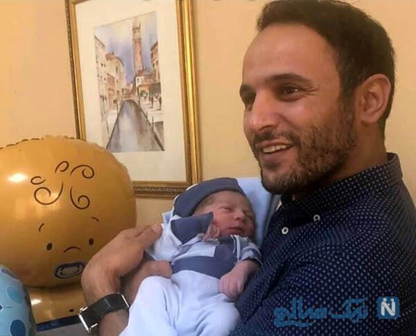 آرش برهانی و پسرش شاهان کوچولوترین استقلالی ایران