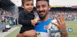 جشن تولد رضا قوچان نژاد در کنار پسرش دوران