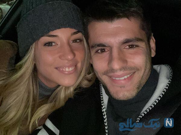 یورش هواداران اتلتیکو مادرید و یوونتوس به صفحه همسر آلوارو موراتا