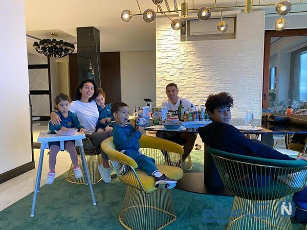 کریستیانو رونالدو و خانواده اش