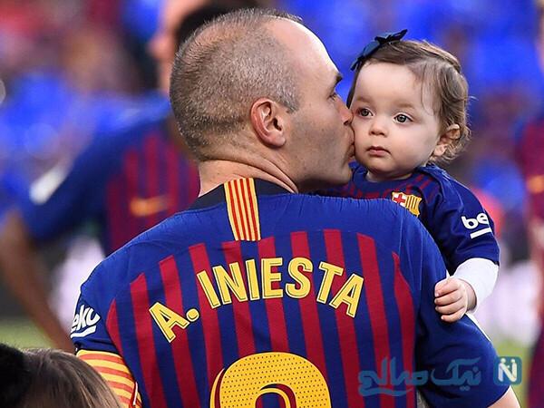 آندرس اینیستا و پسرش