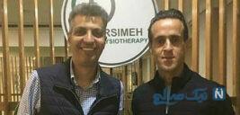 عادل فردوسی پور و علی کریمی با امضای یادگاری برای تولد جادوگر