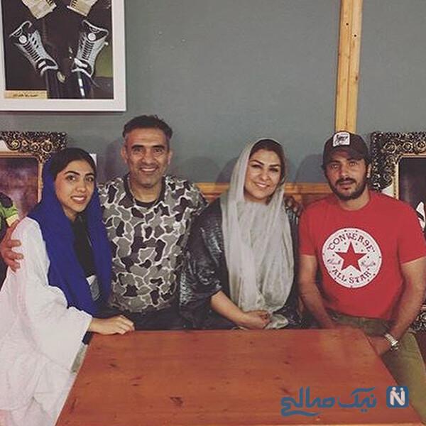 احمدرضا عابدزاده و همسرش