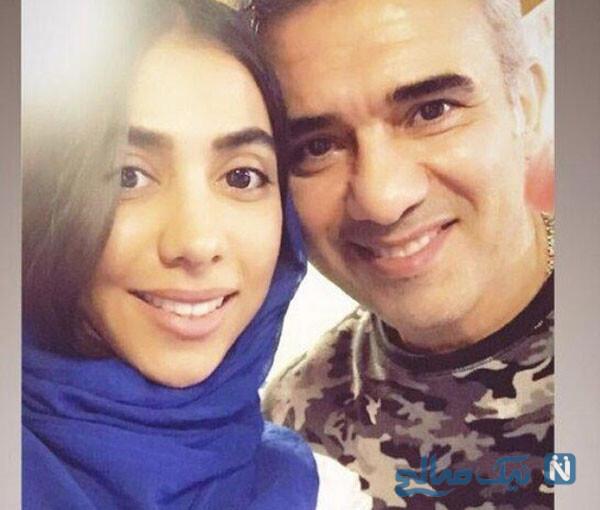 احمدرضا عابدزاده با دخترش در بیمارستان با جزئیات جراحی زانوی چپ عقاب
