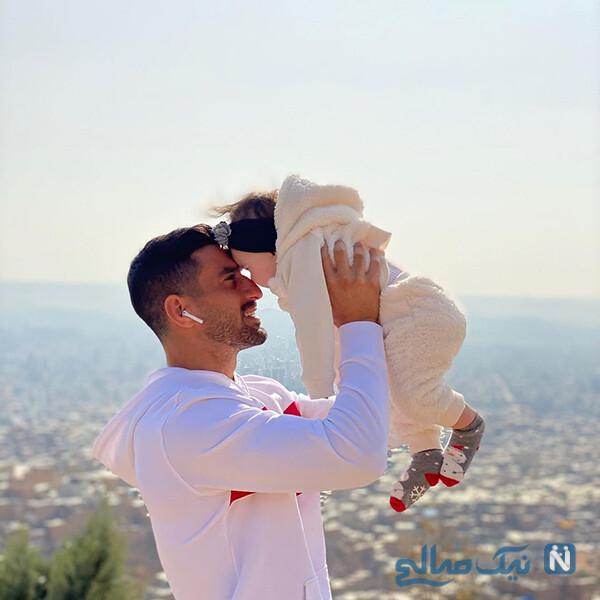 احسان حاج صفی و دخترش