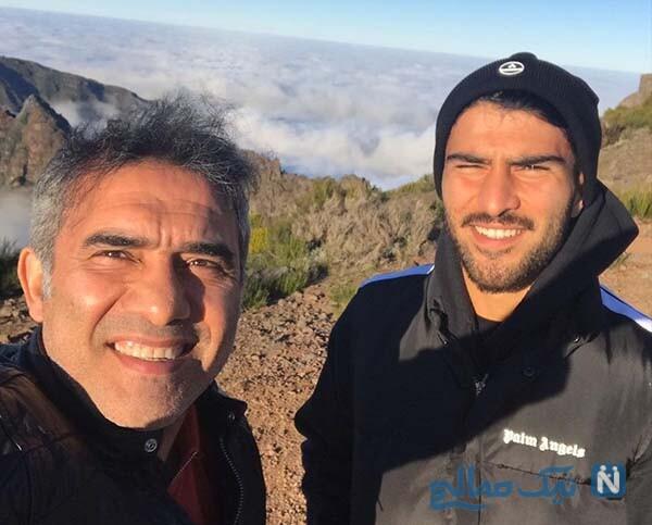 خاطره بازی احمدرضا عابدزاده با پسرش در ورزشگاه آزادی