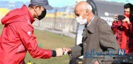 اولین کاپیتان پرسپولیس در کنار سیدجلال حسینی در تمرین