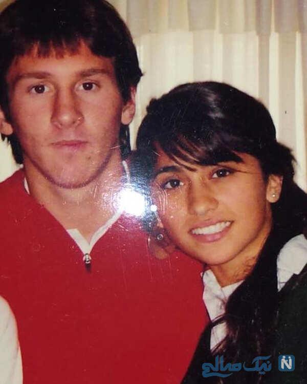 کودکی لیونل مسی و همسرش