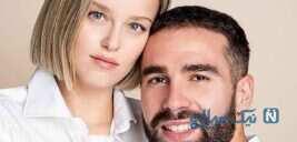 دنی کارواخال و دخترش در شب گلزنی رئال مادرید